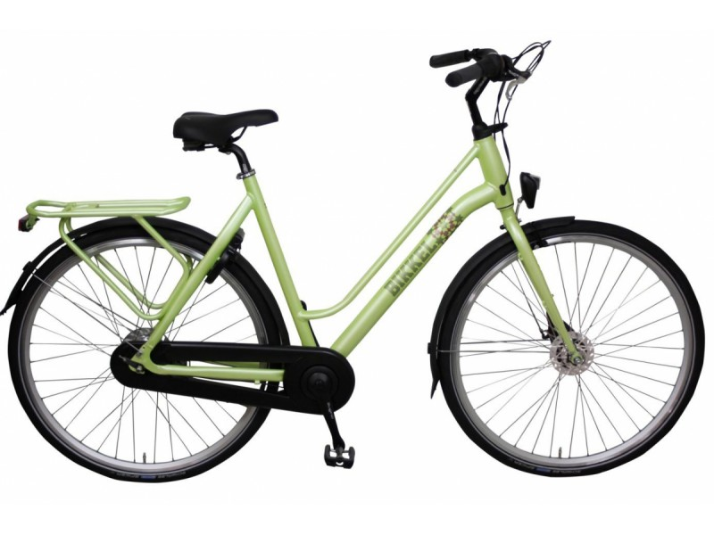 Damesfiets 28inch - Bikkel Luminous Nexus 7V Lime 56cm