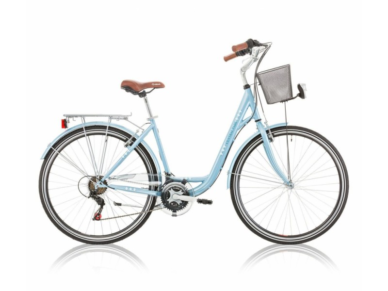 Damesfiets 28 inch - Excel Central Park 18-speed blauw