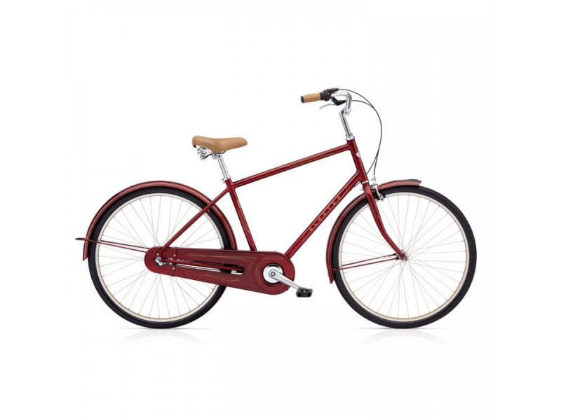 Herenfiets - Electra Amsterdam Original 3i rood metalic