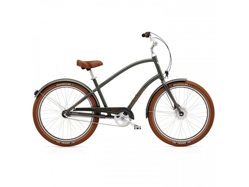 Herenfiets 26 inch - Electra Townie Balloon 7i EQ Mens army grey