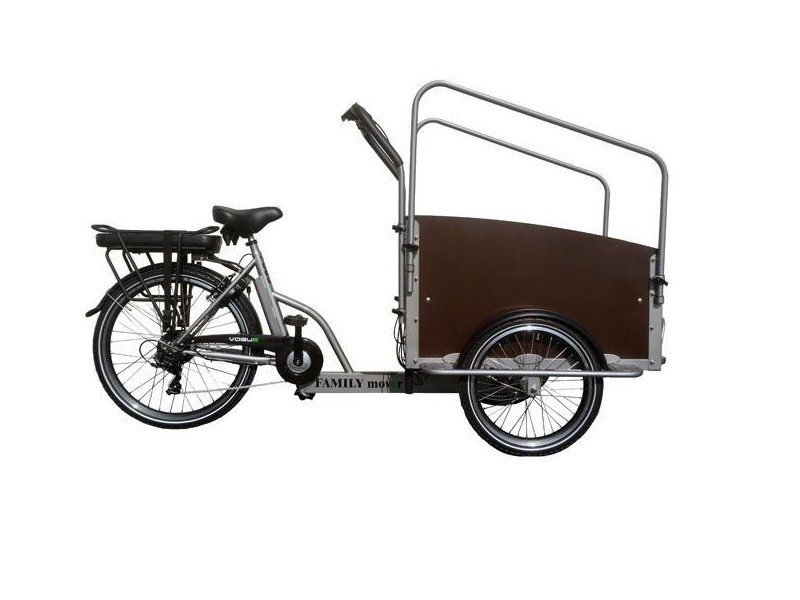 Elektrische Bakfiets - Vogue Family Mover 7-spd zilver