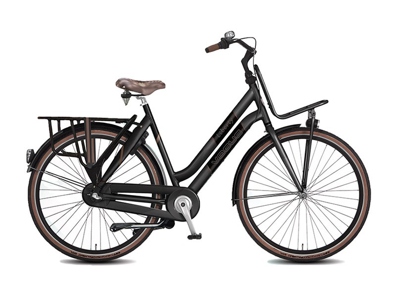Transportfiets 28inch - Vogue Liberty Mat Zwart