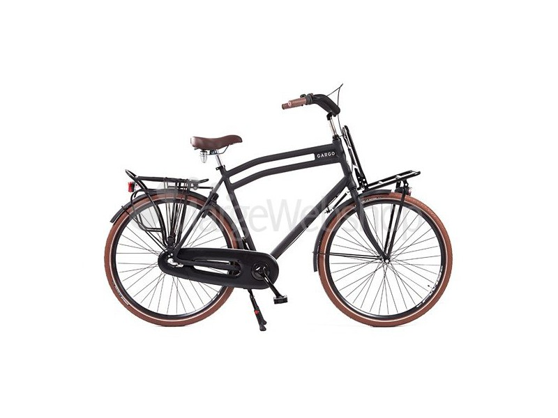 1. Transportfiets - Avalon Cargo 3spd Heren Matzwart