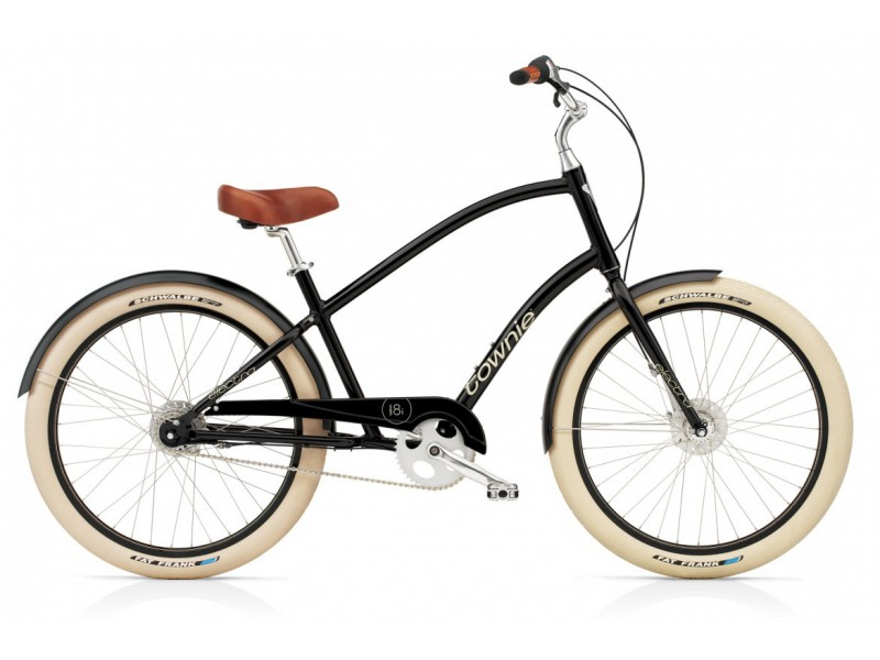 1. Herenfiets - Electra Townie 8i Balloon ebony men's