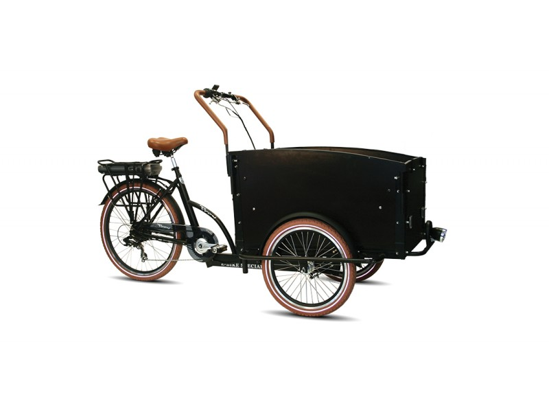 Bakfiets - Troy 7-speed E-Bike matzwart