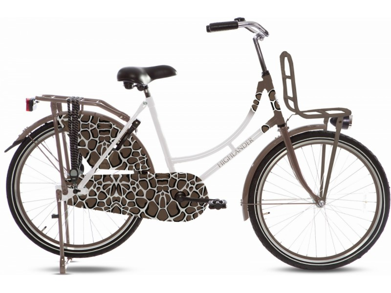 Omafiets 24 inch - Highlander Puma Brown
