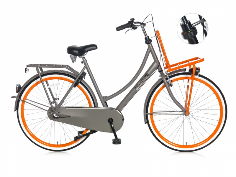 Transportfiets - Daily Dutch Basic Plus grijs 50cm