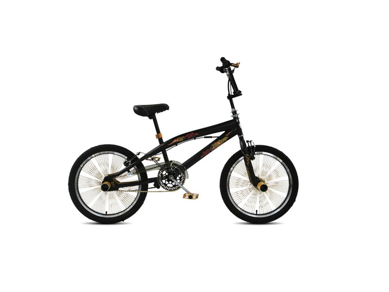 Freestyle BMX 20inch - Troy Freestyle matzwart