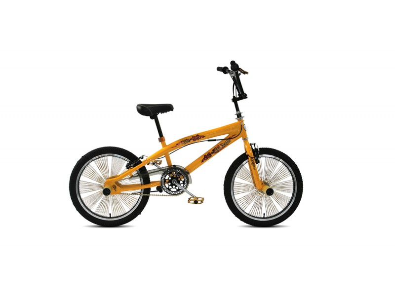 Freestyle BMX 20inch - Troy Freestyle geel