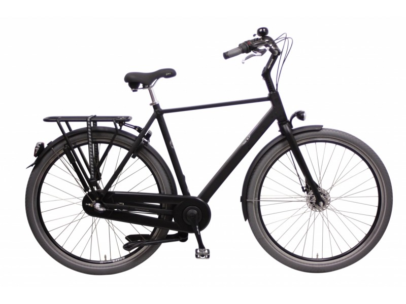Herenfiets 28inch - Bikkel Stamp it Nexus 3V satinblack 52cm