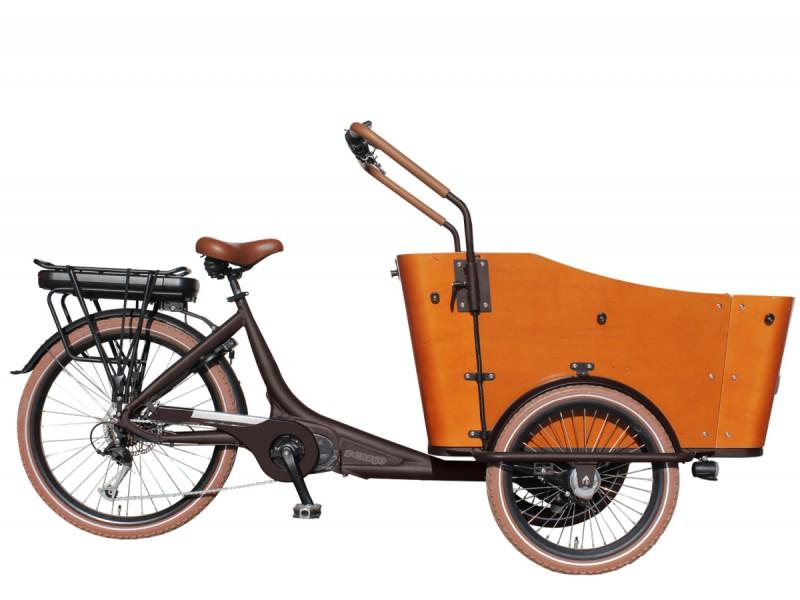elektrische bakfiets vogue cargo 7 spd e bike middenmotor bruin margewebshop. Black Bedroom Furniture Sets. Home Design Ideas