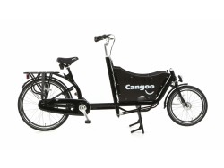 Bakfiets 2-wieler kort - Cangoo Downtown Nexus 3 speed zwart